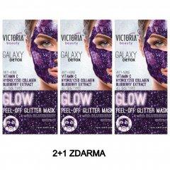 Victoria Beauty Slupovací maska Galaxy Detox s výtažky z borůvek AKCE 2+1 ZDARMA 3x10 ml