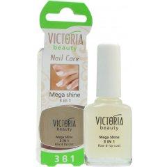 Victoria Beauty Nail Care Maximální lesk 3 v 1, 12 ml