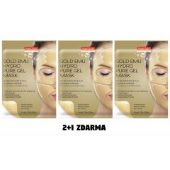 Purederm Anti ageing Hydrogelová zlatá maska proti vráskám AKCE 2+1 ZDARMA