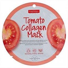 Purederm Textilní kolagenová pleťová maska s výtažky z rajčat