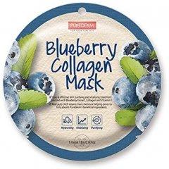 Purederm Textilní kolagenová pleťová maska s výtažky z borůvek 18 g