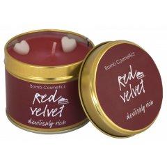 Bomb cosmetics Vonná svíčka Red Velvet (červený samet) 35 hod