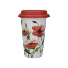 Creative Tops Cestovní hrnek Watercolour Poppies 350 ml