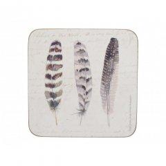 Creative Tops Korkové podložky pod skleničky Feathers 10,5x10,5, 6 ks