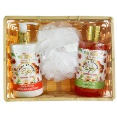 Victoria Beauty Aroma therapy SPA Dárková kosmetická sada Cherry love 3 ks