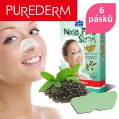 Purederm Čisticí pásky na nos Zelený čaj, 6 ks