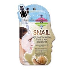 Skinlite Dvoufázová maska s protistárnoucím účinkem, šnečí extrakt+3D buničitá maska, 1ks