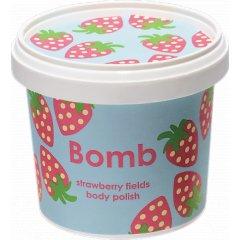 Bomb cosmetics Sprchový peeling Jahodová pláň, 375 g