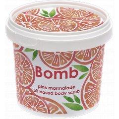 Bomb cosmetics Jemný sprchový peeling Růžová marmeláda, 400 g