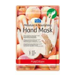 Purederm Hydratační a výživná maska na ruce s výtažky z broskví