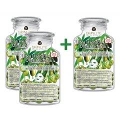 Skinlite Vysoce hydratační pleťová maska s olivovým olejem, AKCE 2+1 ZDARMA, 3ks