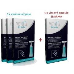 Victoria Beauty Vitamínové ampule s placentou proti vypadávání vlasů, AKCE 3+1 ZDARMA, 4 ks