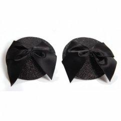 Bijoux Indiscrets Burlesque pasties GLITER&BOW - lepící ozdoby na bradavky