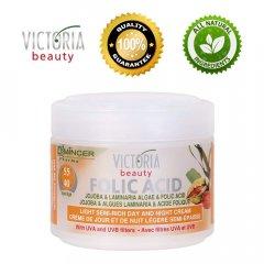 Victoria Beauty Folic Acid Polomastný denní a noční krém s jojobou a mořskými řasami 40+, 50 ml
