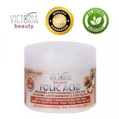 Victoria Beauty Folic Acid Denní a noční krém s makadamiovým olejem 60+, 50 ml