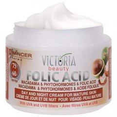 Mincer Folic Acid Denní a noční krém s makadamiovým olejem 60+, 50 ml