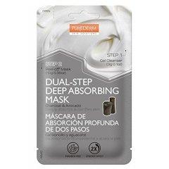 Purederm Slupovací pleťová maska s uhlím a avokádem ve dvou krocích, 1ks