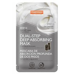 Purederm Dvoufázová slupovací pleťová maska s uhlím a avokádem ve dvou krocích, 1ks