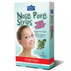 Purederm Čisticí pásky na nos Tea tree, 6 ks