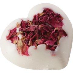 Bomb cosmetics Koupelové Bílé srdíčko s plátky růže, 25g