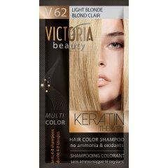 Victoria Beauty Keratin Therapy Tónovací šampón na vlasy V 62, Light Blonde,  4-8 umytí