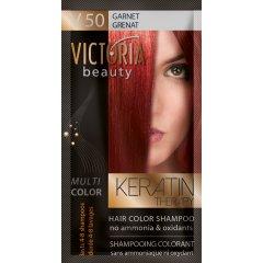 Victoria Beauty Keratin Therapy Tónovací šampon na vlasy V 50, Garnet, 4-8 umytí
