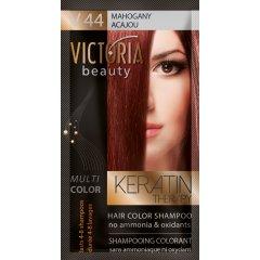 Victoria Beauty Keratin Therapy Tónovací šampon na vlasy V 44, Mahagony, 4-8 umytí