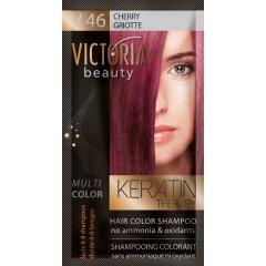 Victoria Beauty Keratin Therapy Tónovací šampón na vlasy V 46, Cherry, 4-8 umytí