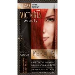 Victoria Beauty Keratin Therapy Tónovací šampón na vlasy V 49, Ruby, 4-8 umytí