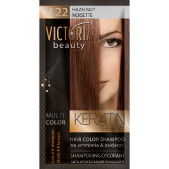 Victoria Beauty Keratin Therapy Tónovací šampón na vlasy V 22, Hazelnut, 4-8 umytí