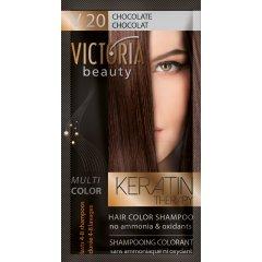 Victoria Beauty Keratin Therapy Tónovací šampon na vlasy V 20, Chocolate , 4-8 umytí