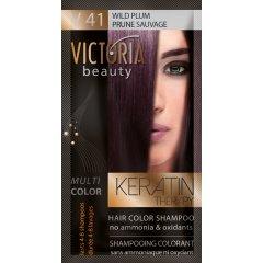 Victoria Beauty Keratin Therapy Tónovací šampon na vlasy V 41, Wild plum, 4-8 umytí