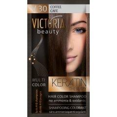 Victoria Beauty Keratin Therapy Tónovací šampón na vlasy V 30, Coffee, 4-8 umytí