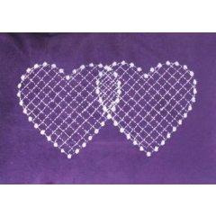 Lavennis Polštářek z lásky - Srdce v lásce spojené, 25 x 35 cm fialový