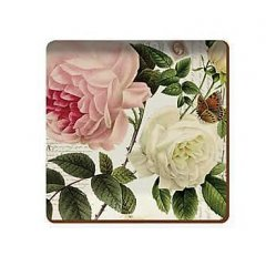 Creative Tops Korkové prostírání pod skleničky Garden Rose, 10x10 cm, 6 ks