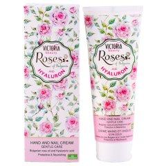 Victoria Beauty Roses and Hyaluron Krém na ruce a nehty s růžovým olejem a kyselinou hyaluronovou, 100 ml