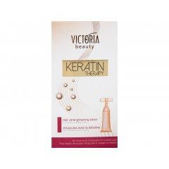 Victoria Beauty KERATIN Therapy Ampule pro posílení vlasů, AKCE 3+1 ZDARMA, 3x5 x10 ml