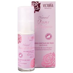 Victoria Beauty Natural Roses Protivráskový oční krém s růžovým olejem, 30 ml