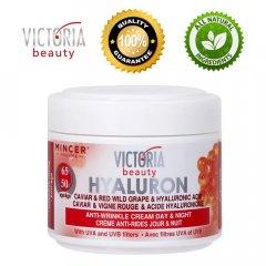 VICTORIA BEAUTY Hyaluron 50+ Výživný denní a noční krém s kaviárem a kyselinou hyaluronovou, 50ml