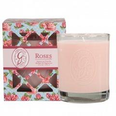 Greenleaf Vonná svíčka Roses v dárkové krabičce, 80 hodin, 270 g