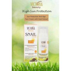 Victoria Beauty Protivráskový voděodolný ochranný krém se šnečím extraktem SPF 50, 50 ml
