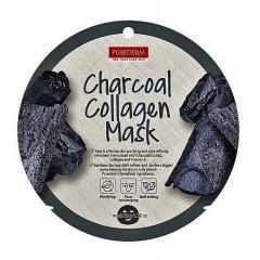 Purederm Pleťová buničitá maska s aktivním uhlím a kolagenem