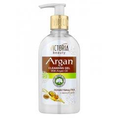 Victoria Beauty ARGAN Čisticí pleťový gel s arganovým olejem, 200 ml