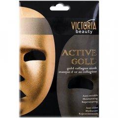 Victoria Beauty Active gold Protivrásková zlatá kolagenová maska