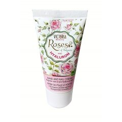 Victoria Beauty Roses and Hyaluron Krém na ruce a nehty s kyselinou hyaluronovou 50 ml