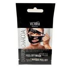 Victoria Beauty Černá slupovací maska s aktivním uhlím 10 ml