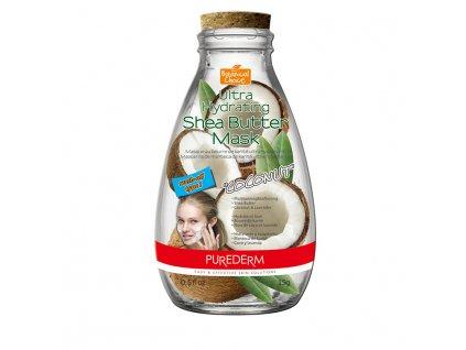 Purederm Ultra hydratační pleťová maska s bambuckým máslem a kokosem,15ml
