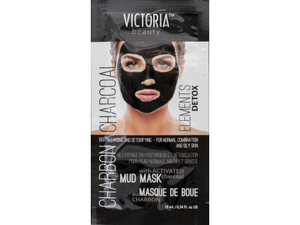 Victoria Beauty DETOX Mud Charcoal (uhlí) Bahenní maska  10ml