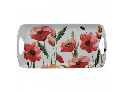 Creative Tops Melaminový tácek Watercolour Poppies 38x20 cm