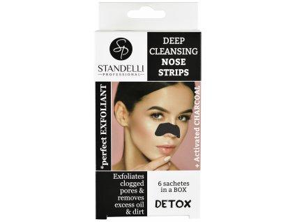 Standelli professional DETOX Čisticí pásky na nos  s aktivním uhlím 6 ks